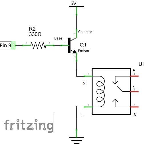 Circuito Optoacoplador : Arduino y los relés tutoriales