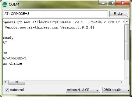 Arduino + WIFI ESP8266