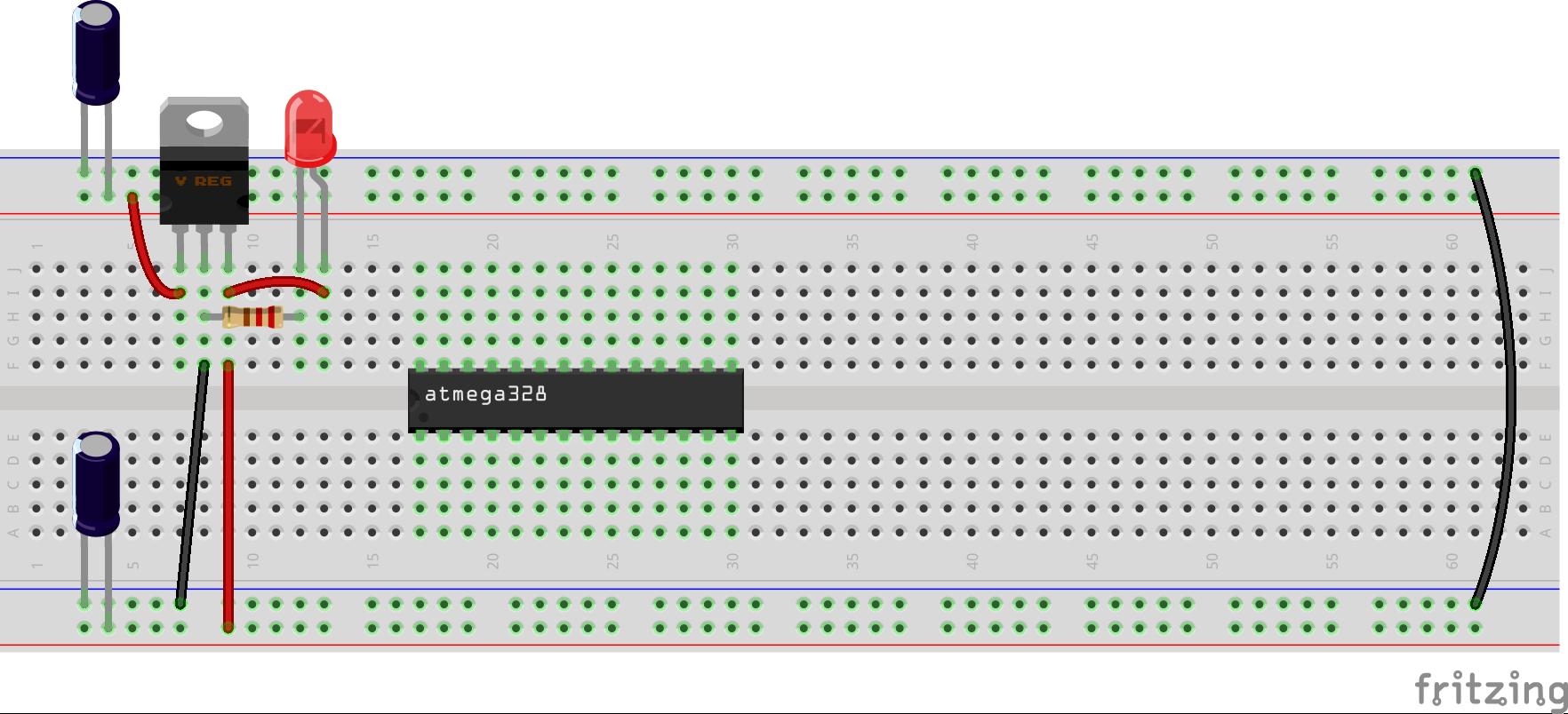 Arduino en protoboard 2