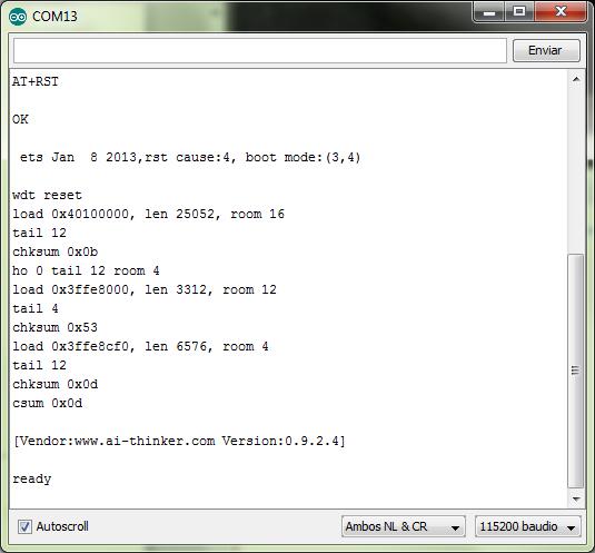 Comunicacion con WIFI ESP8266
