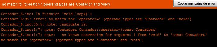 Error del compilador