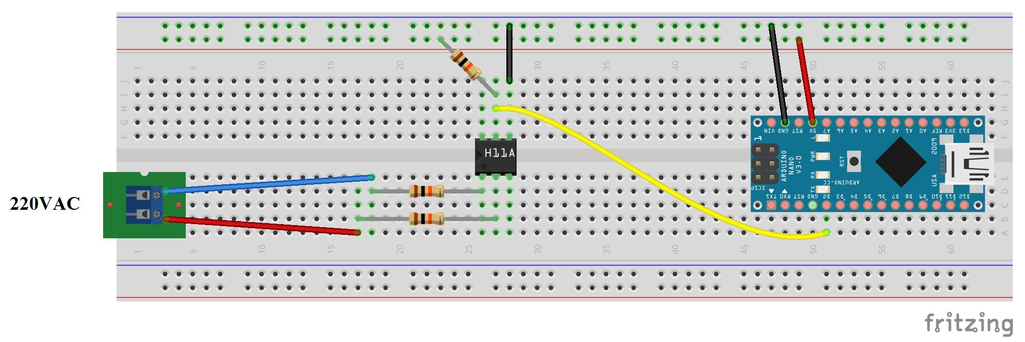 esquema protoboard