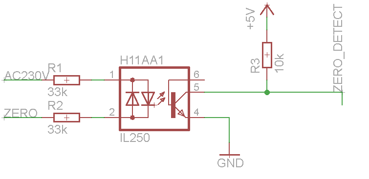 Zero crossing detection tutoriales arduino