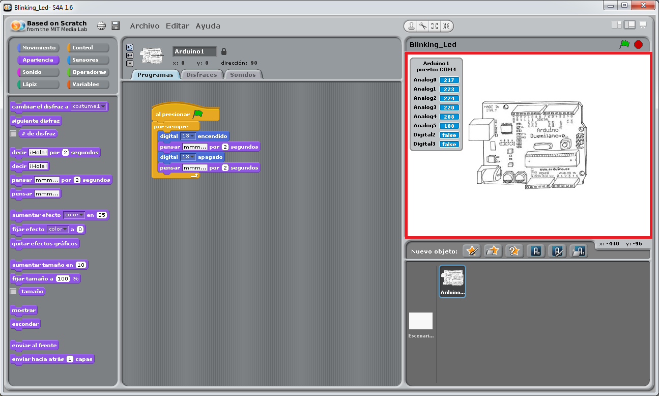 Scratch for arduino