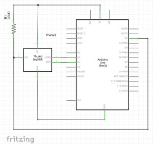 diagrama conexión joystick