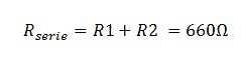 calculo resistencia serie equivalente