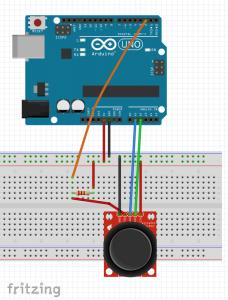joystick resistencia protoboard