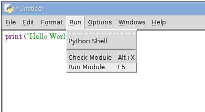 ejecutando un programa en python 3