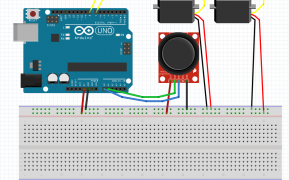 montaje-protoboard-joystick-dos-servos
