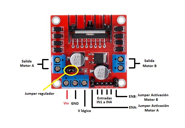 M dulo controlador de motores l298n tutoriales arduino for 3v dc motor datasheet