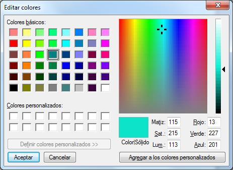 Calculando componentes RGB de los colores