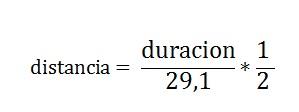 formula distancia sonido
