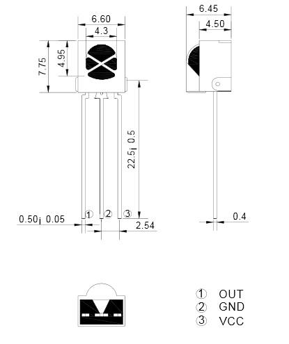 AX-1838HS receptor de mando infrarrojo