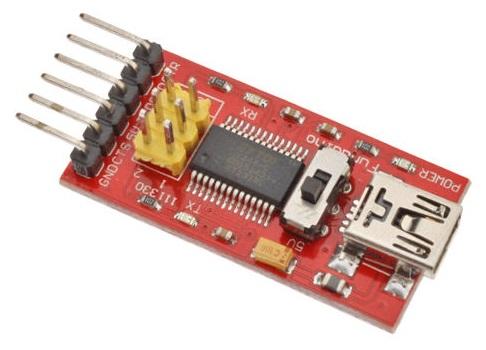 USB mini FTDI para protoboard