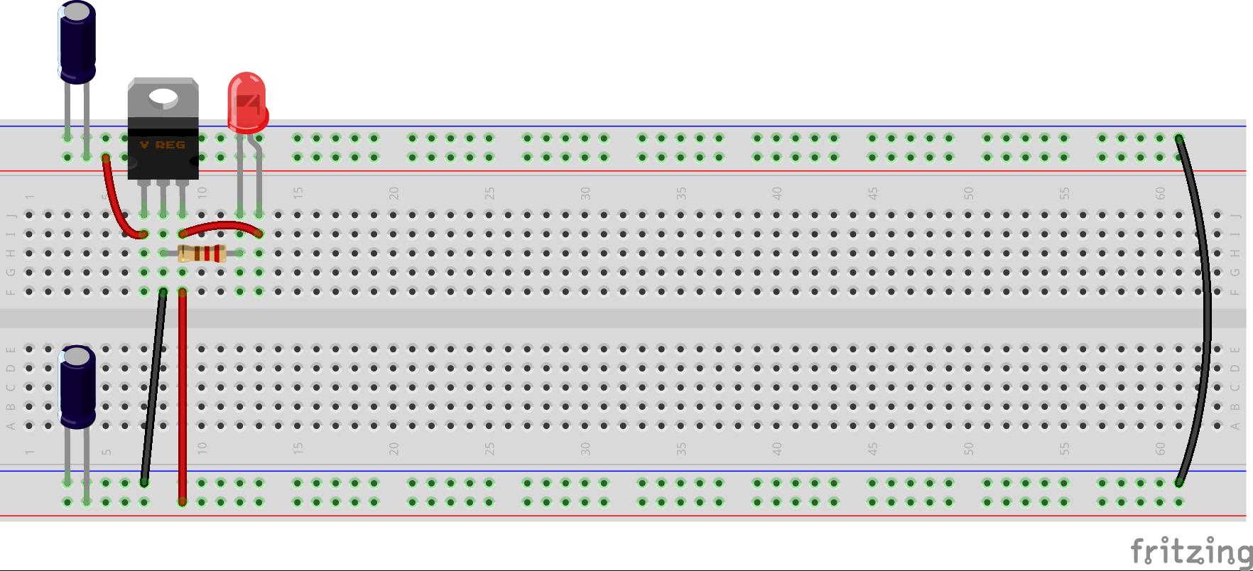 Arduino en protoboard 1
