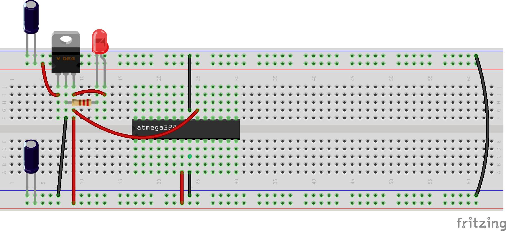 Arduino en protoboard 3