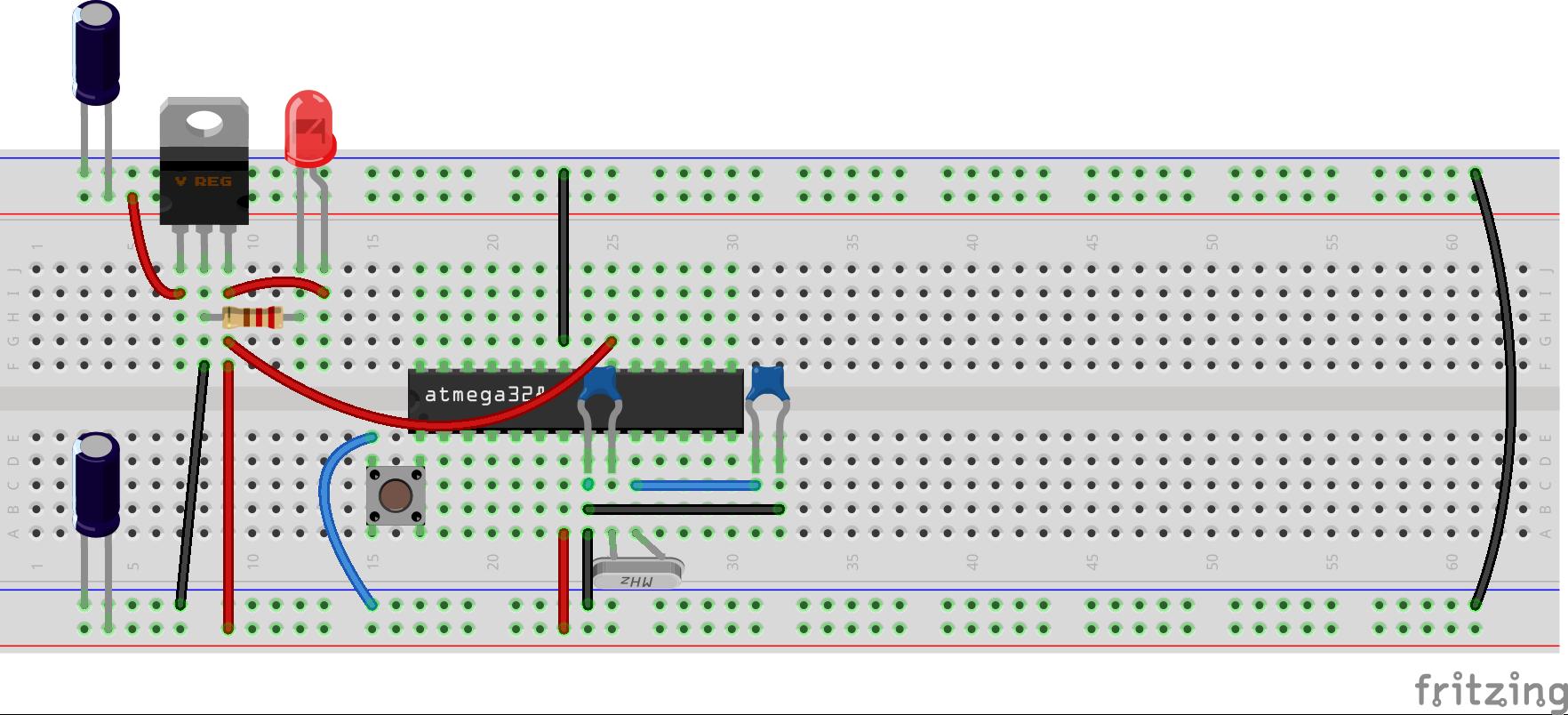 Arduino en protoboard 4