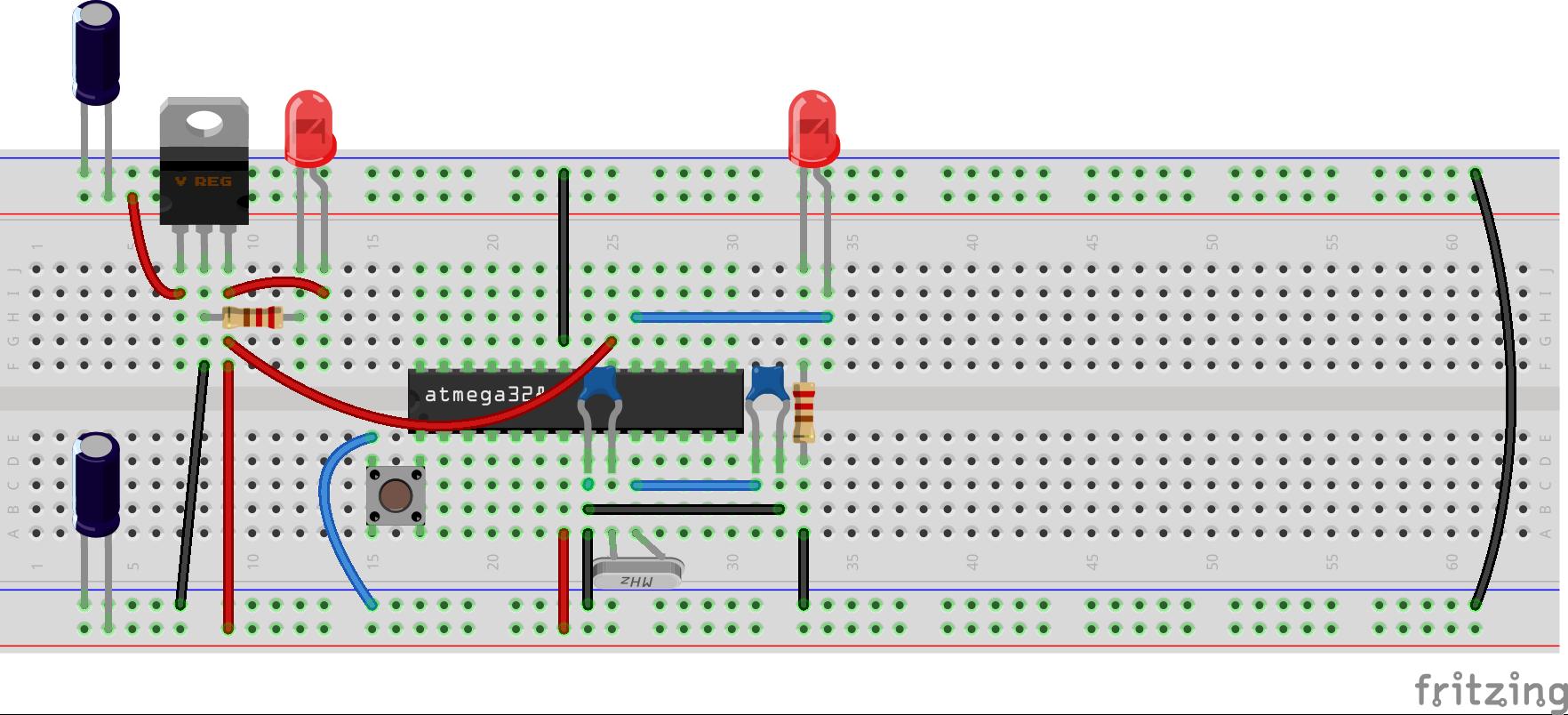 Arduino en protoboard 5