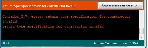 Arduino output