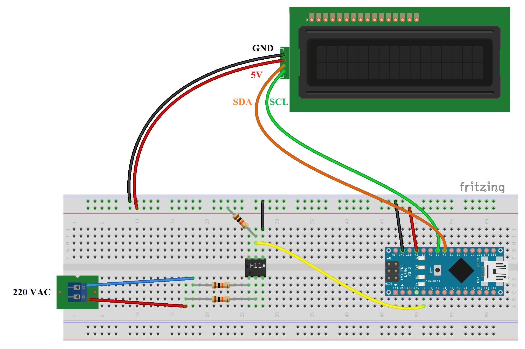 Esquema de protoboard arduino