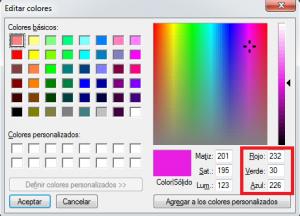 editar colores