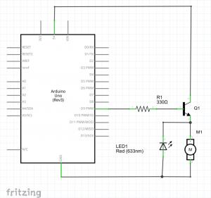 diagrama transistor motor cc