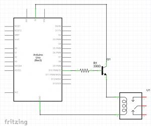 conexion arduino transistor relé