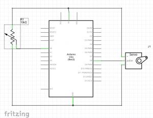 diagrama eléctrico servo potenciómetro