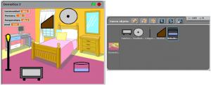 Escenario objetos habitación domótica