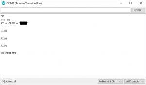 monitor serie llamada sim900