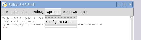 COnfigurando el IDLE