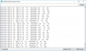 monitor serie acelerómetro nunchuk