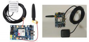 Antena GPRS y GPS SIM808