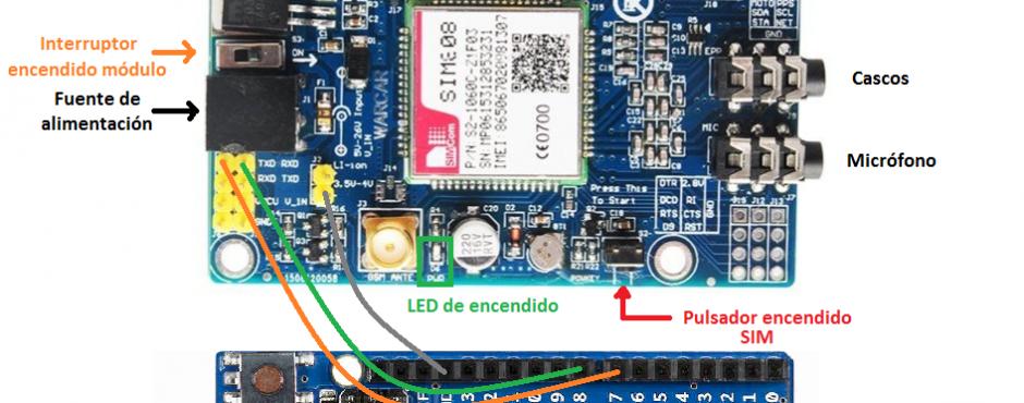 SIM808 gprs gps arduino