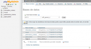 servidor raspberry base de datos