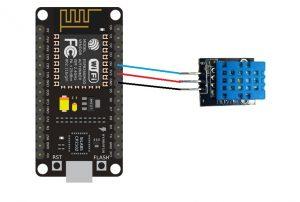 conexion dht11 esp8266 nodemcu