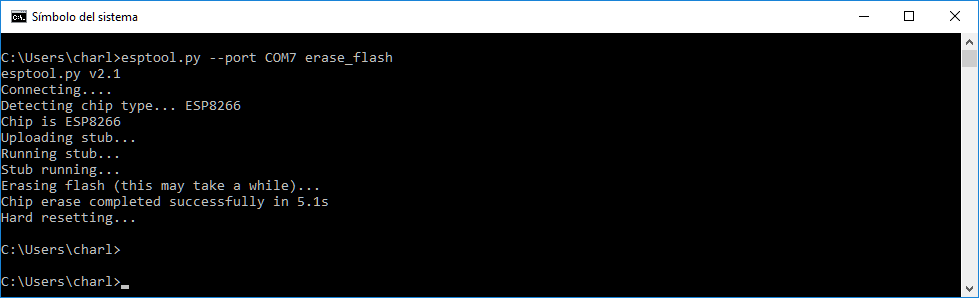 erasing flash
