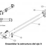 Montaje de la estructura del eje X