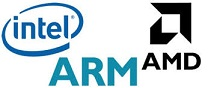 intel arm amd