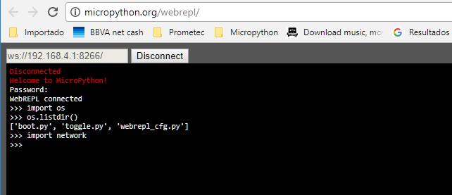 pantalla principal desde webrepl