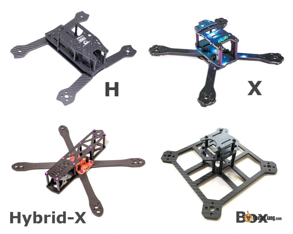 Distintos cuadros de cuadracópteros