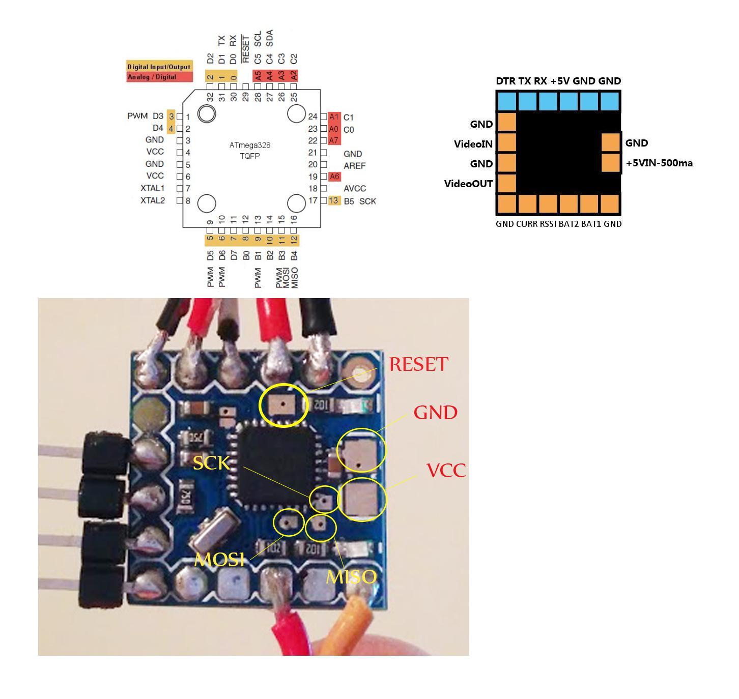 Conexión Micro Mini OSD