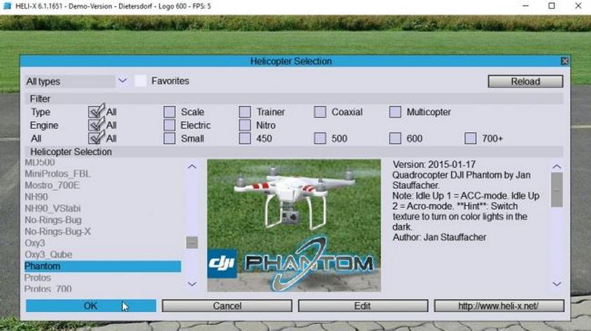 Simulador de vuelo Heli-X Simulator