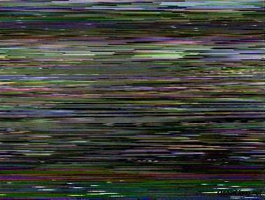 Pantallazo de interferencias en la señal de vídeo