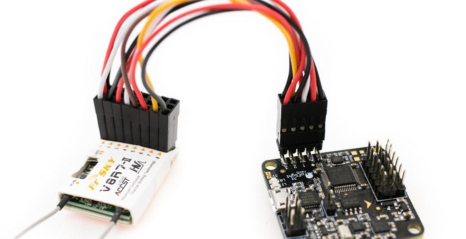 Cables entre el RX y FC