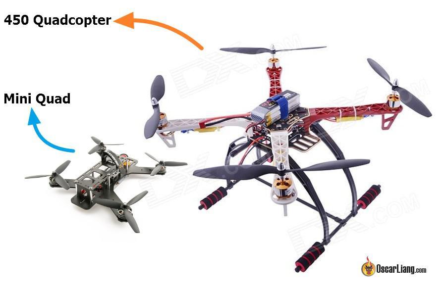 Diferencia de tamaños entre diferentes drones