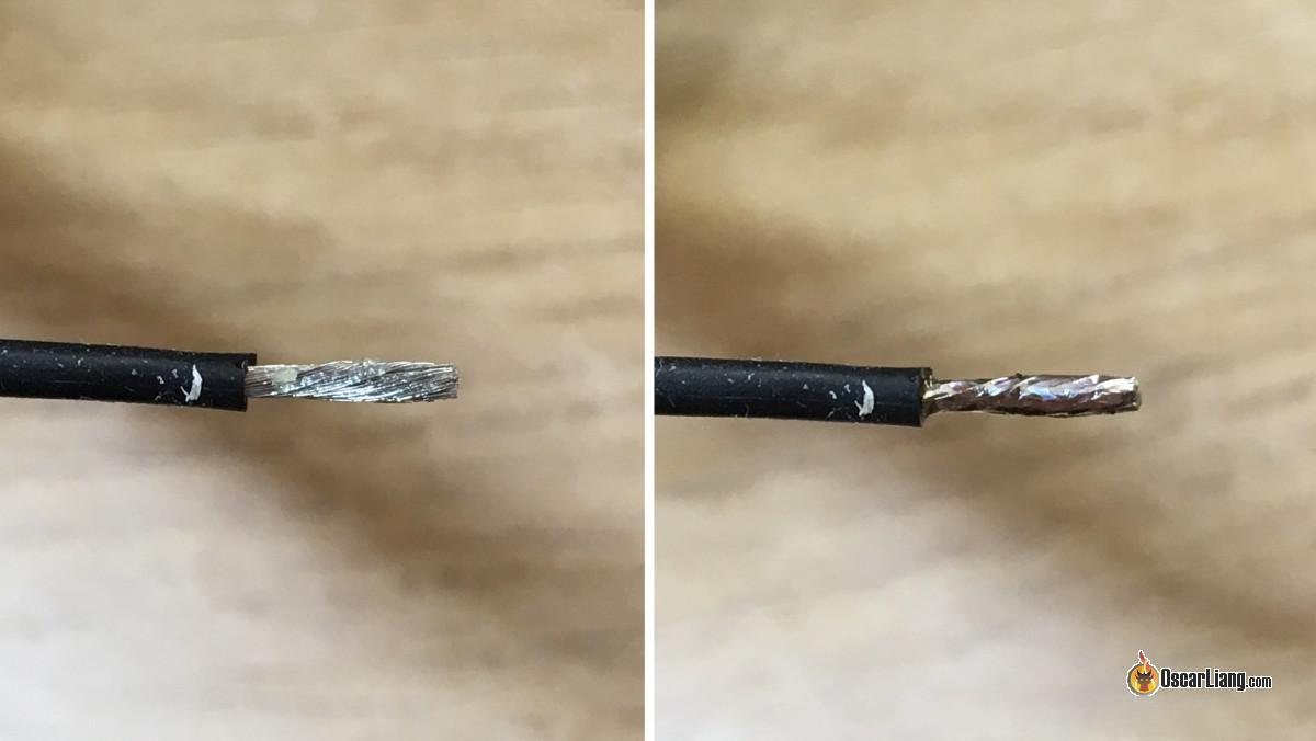 Cable preparado para soldar