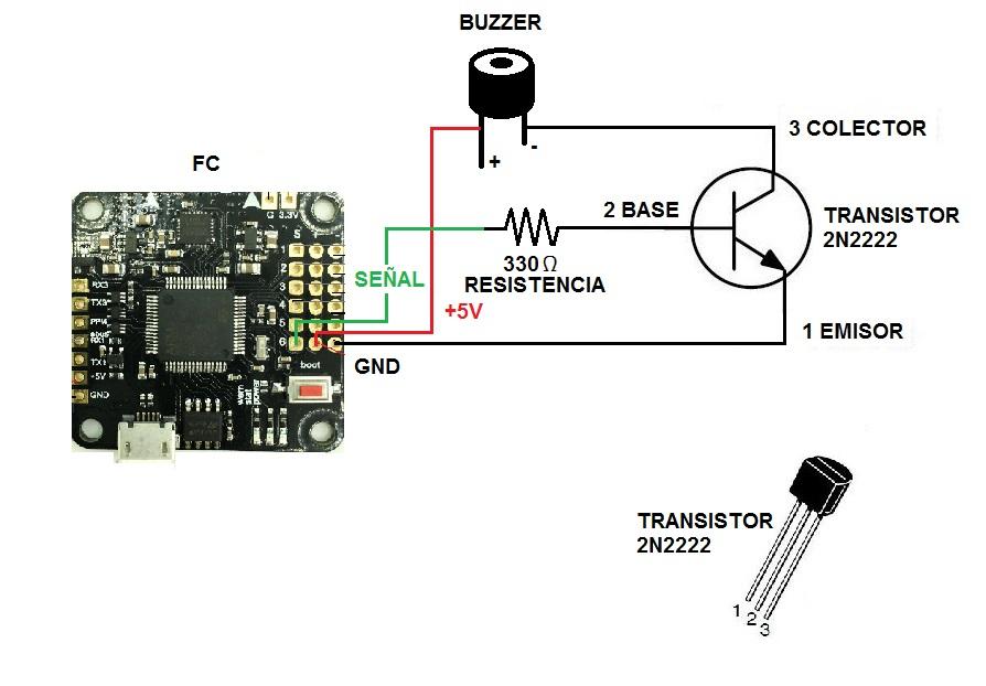 Circuito para buzzer en un PC