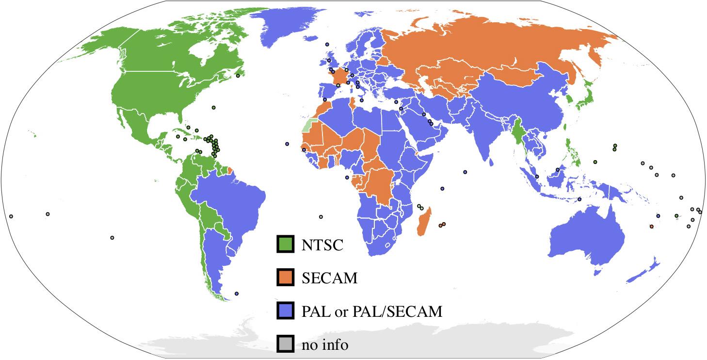 mapa de sistemas de codificación de vídeo