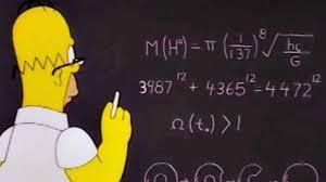 Homer ante la pizarra
